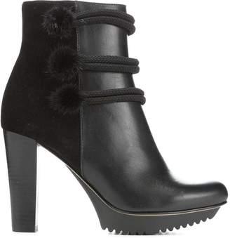 Donald J Pliner RICHELE, Calf Leather and Mink Fur Platform Boot