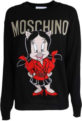 Moschino Intarsia Logo Sweater