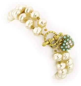 Couture Antiquities Vintage-Inspired Pearl Stretch Bracelet
