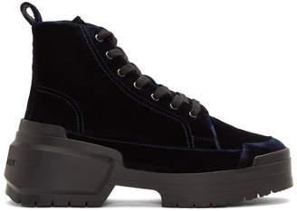 Pierre Hardy Navy Velvet Rangers Boots