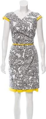 Max Mara Printed Short Sleeve Mini Dress