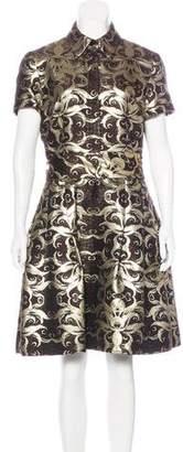 Naeem Khan Brocade Knee-Length Dress