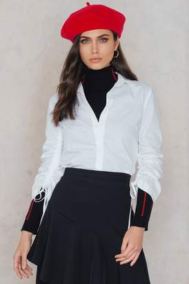 Trendyol Tie Frill Sleeve Shirt