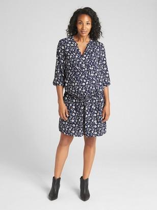 Gap Maternity Floral Print Drop-Waist Dress