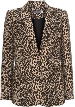 Mint Velvet Leopard Jacquard Blazer