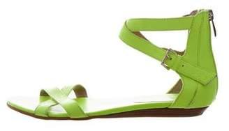 Rebecca Minkoff Leather Crossover Sandals