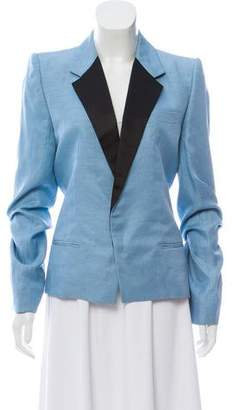 Haider Ackermann Linen Notch-Lapel Blazer