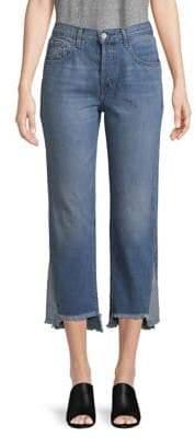 J Brand Wynne Straight-Fit Cropped Jeans