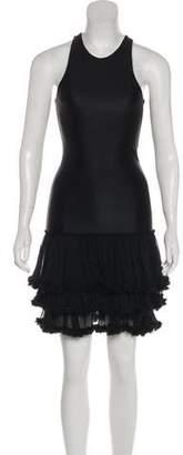 Thomas Wylde Sleeveless Ruffle dress