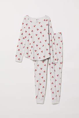 H&M Pajama Top and Pants - Gray