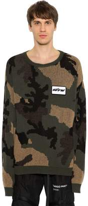 Off-White Off White Oversized Camo Cotton & Wool Sweater