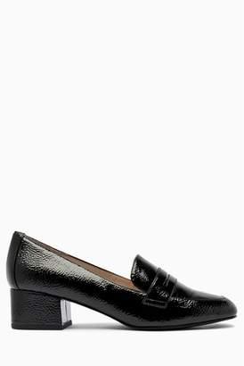 b67cf49e6e1 Next Womens Black Heeled Loafers