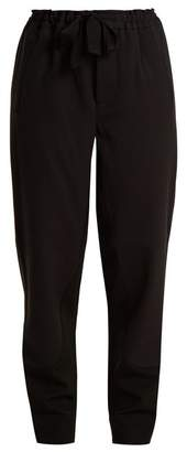 Marni - Bi Colour Tapered Leg Stretch Wool Trousers - Womens - Black Navy