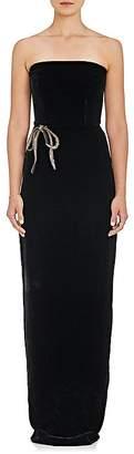 Monique Lhuillier Women's Embellished Velvet Strapless Gown