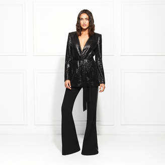 Rachel Zoe Ozur Fluid Sequin Smoking Jacket