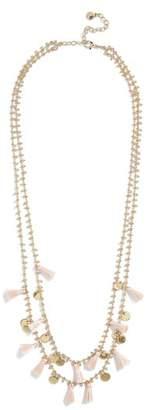 BaubleBar Kirana Mini Tassel Layered Necklace