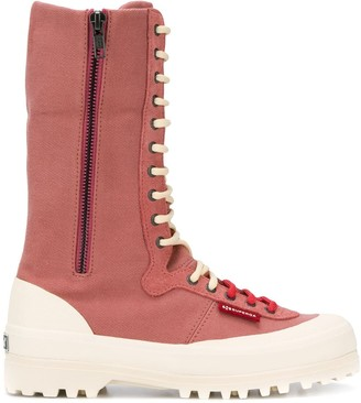 Superga ankle lace-up boots