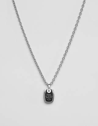 Fossil mens stainless steel classic necklace