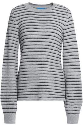 MiH Jeans Metallic Striped Merino Wool-Blend Sweater