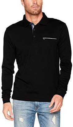 Pierre Cardin Men's Longsleeve Polo Basic Plus Interlock T-Shirt, (Schwarz 2000)