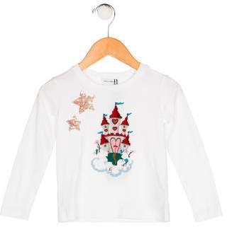 Dolce & Gabbana Girls' Appliqué-Accented Knit Top w/ Tags