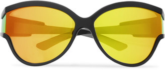Balenciaga D-Frame Acetate Mirrored Sunglasses - Men - Black