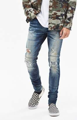 PacSun Stacked Skinny Moto Dark Tint Jeans