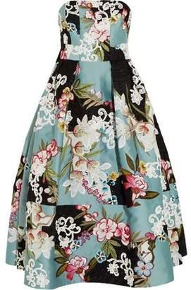 Erdem Green Carpet Challenge Alina Appliquéd Duchesse-Satin And Brocade Gown