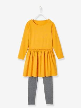 Vertbaudet Dress + Leggings Combo for Girls