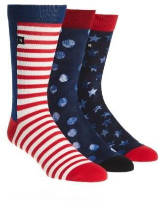 Men's Richer Poorer 3-Pack Crew Socks $39.99 thestylecure.com