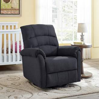 Classic Brands Crescent Upholstered Swivel Glider
