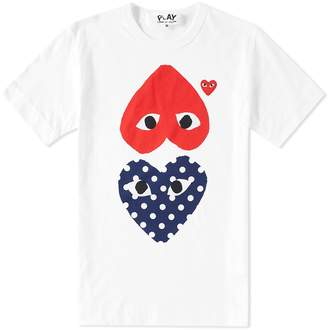 Comme des Garcons Polka Dot Mix Heart Tee