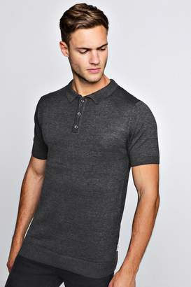 boohoo Short Sleeve Knitted Polo