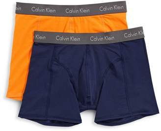 Calvin Klein Two-Pack Logo Classic-Fit Boxer Briefs