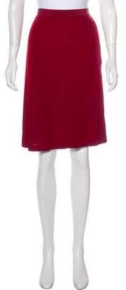 Jean Paul Gaultier Semi-Sheer Knee-Length Skirt