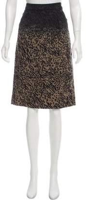 Preen Line Leopard Knee-Length Skirt