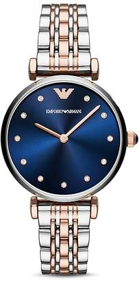 Emporio Armani Women's Two Hand Two-Tone Stainless Steel Watch, 32 x 36 mm