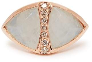 Jacquie Aiche Diamond, Moonstone & Rose Gold Ring - Womens - White
