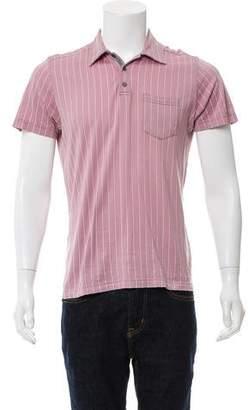 Dries Van Noten Striped Short Sleeve Polo