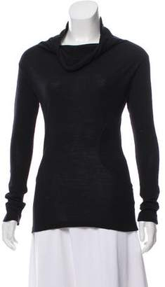 CNC Costume National Long Sleeve Cowl Neck Top