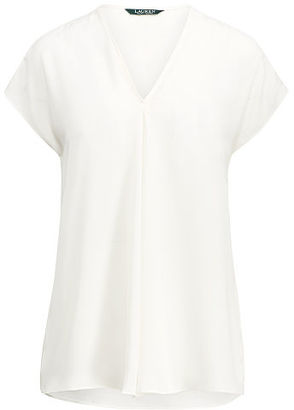 Ralph Lauren Georgette Short-Sleeve Top $69.50 thestylecure.com
