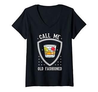 Womens Whiskey Whisky Alkohol Drinking Club Bar Party Tavern Gift V-Neck T-Shirt