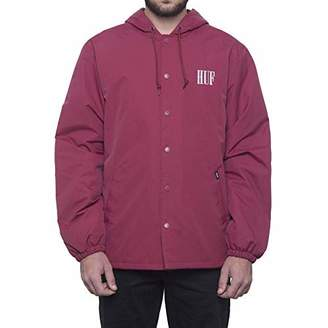HUF Men's Serif Quilted Coaches Jacket
