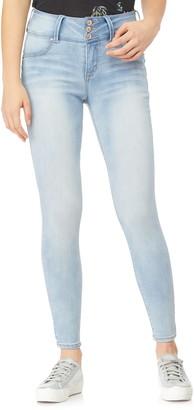 aceb7e8a6 Wallflower Juniors  WallFlower High-Waisted Sassy Skinny Jeans