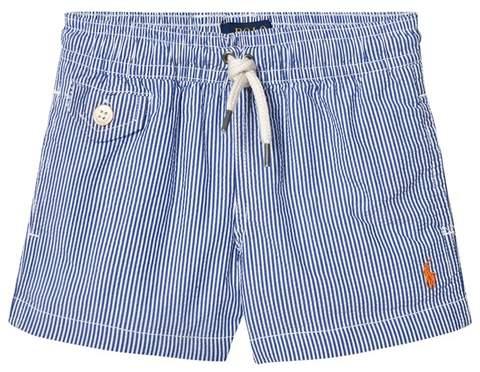 Blue Seersucker Swim Shorts with PP