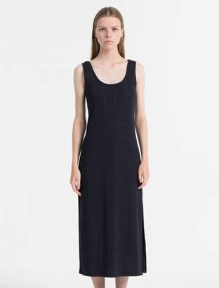 Calvin Klein rib jersey maxi dress