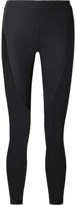 Nike Pro Hypercool Mesh-paneled Stretch Leggings - Black