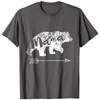 Distressed Vintage Retro Mama Bear T-Shirt