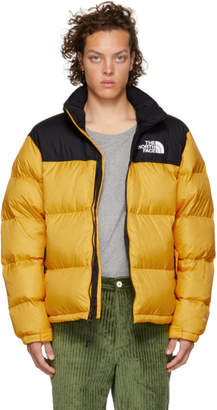 The North Face Yellow and Black 1996 Retro Nuptse Jacket