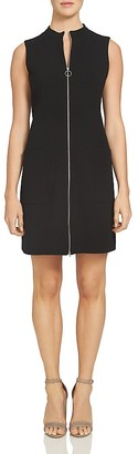 1.STATE Mock Neck Zip Front Shift Dress $129 thestylecure.com